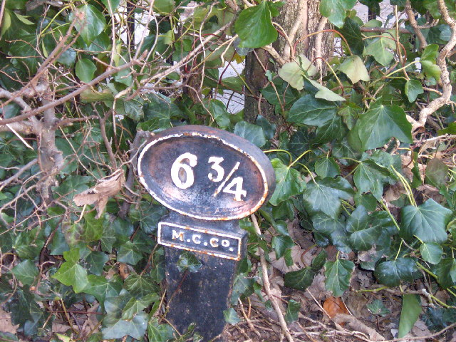Milepost on Monmouth and Brecon Canal