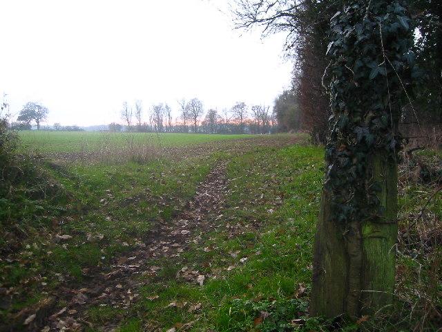 Footpath to Church End, Weston
