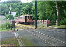 SC4384 : Tram arriving from Douglas - Laxey Station by Nigel Homer