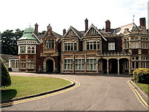 SP8633 : The manor house at Bletchley Park by Dave and Carolyn Sawyer