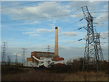 ST3283 : Uskmouth powerstation by Mrs Blorenge