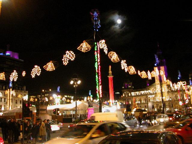 George Square, Glasgow. Christmas lights 2005