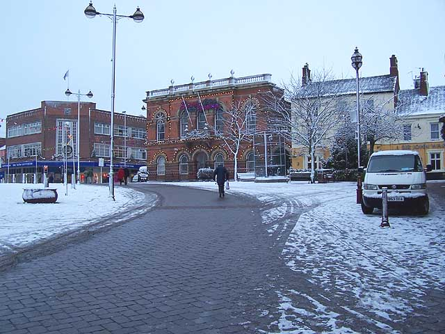 Snow Covered Town Centre