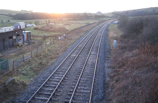Down the line at sunset.