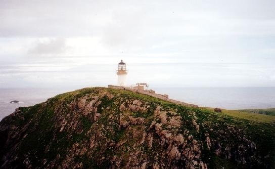 The lighthouse on Eilean Mor of the Flannan Isles