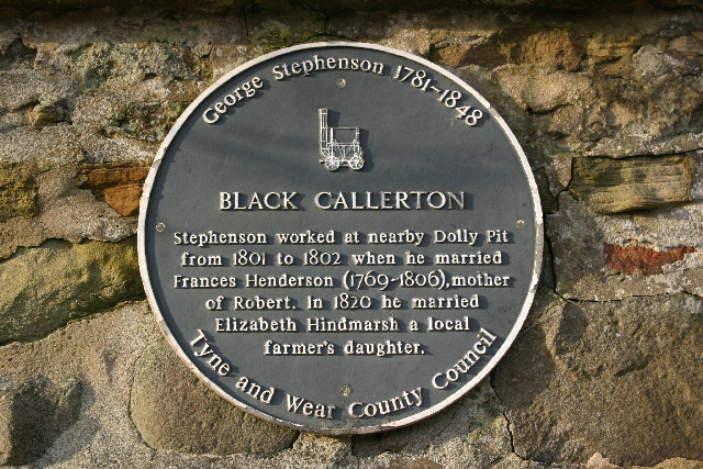 Plaque on wall at Black Callerton