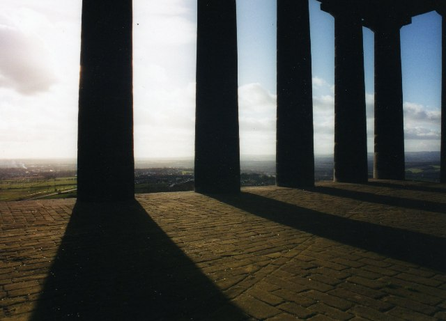 View from Penshaw Monument over surrounding countryside