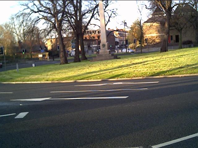 Grosvenor Road Roundabout near Chester Castle
