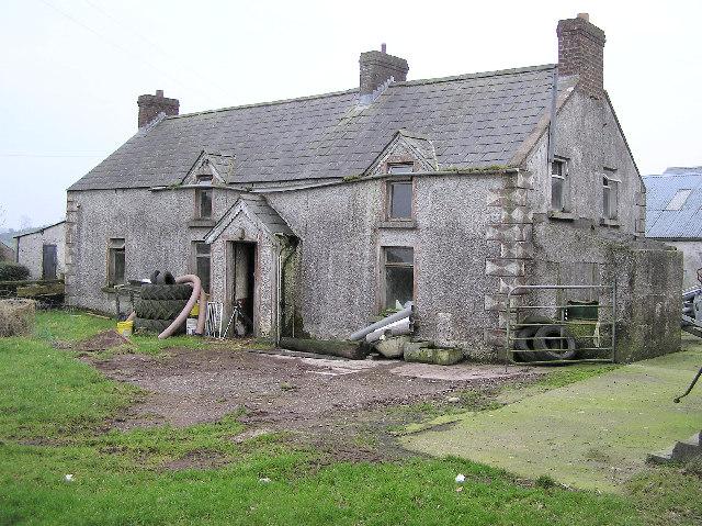 Ruined farmhouse at Corboe