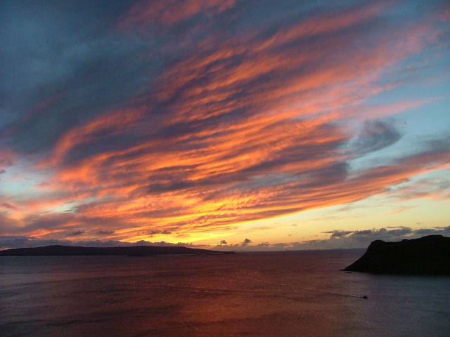 Sunset over Uig Bay