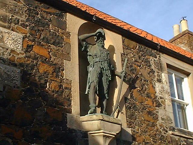 Statue of Alexander Selkirk 1676-1721