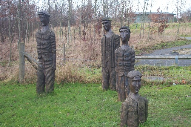 Figures at Brierley Forest Country Park