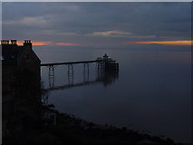 ST4071 : Clevedon Pier at dusk by Colin Park