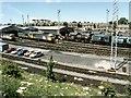 SE4923 : Knottingley Railway Depot by Dave Hitchborne