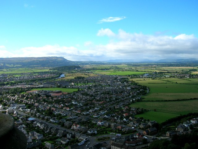 Viewing West from atop the Wallace Monument