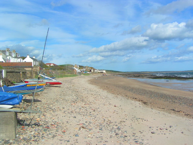 Looking east on Lower Largo beach by Norrie Adamson