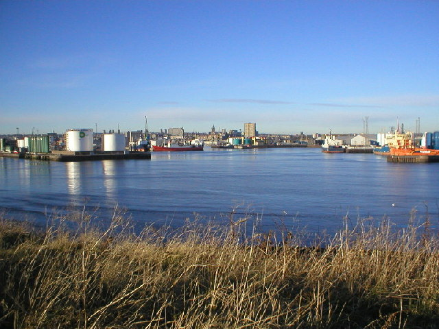 Aberdeen Harbour from Greyhope Road