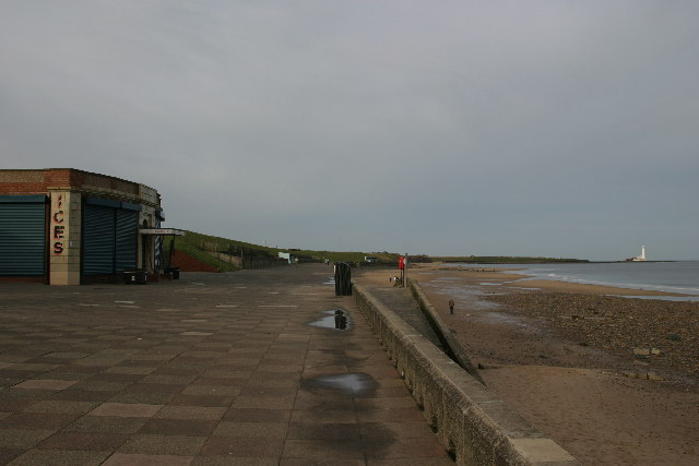 Whitley Bay promenade from the Rendezvous Cafe