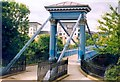 NS5964 : Footbridge at Glasgow Green by Patrick Mackie