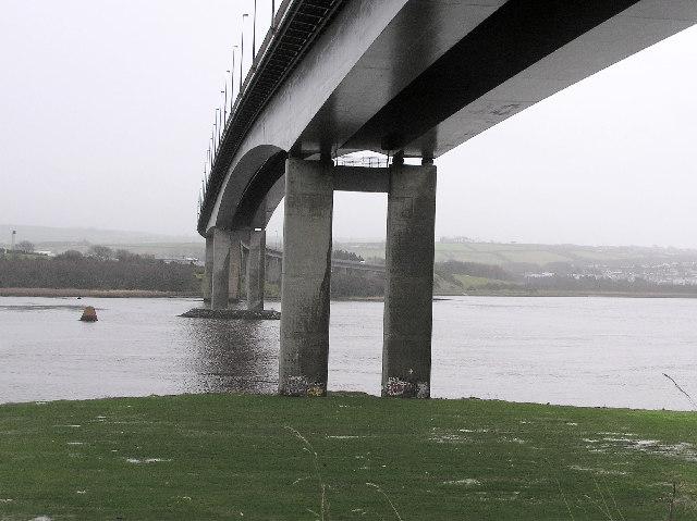 Under the Foyle bridge