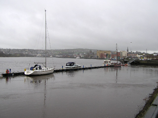The quayside at Derry / Londonderry