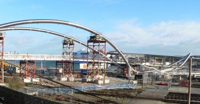The Celtic Gateway, Holyhead, under construction