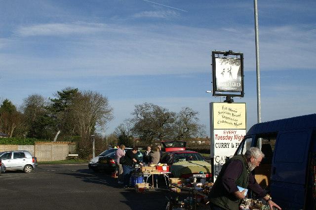 Car Boot Sale at Orchard Inn car park in Huntspill