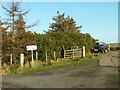 NG4867 : Road sign to Staffin Slipway by Dave Fergusson