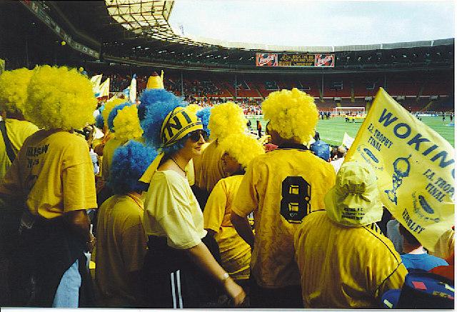 "Inside the ""Old"" Wembley Stadium."
