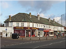 TQ1373 : Shops in Nelson Road, Whitton by David Hawgood