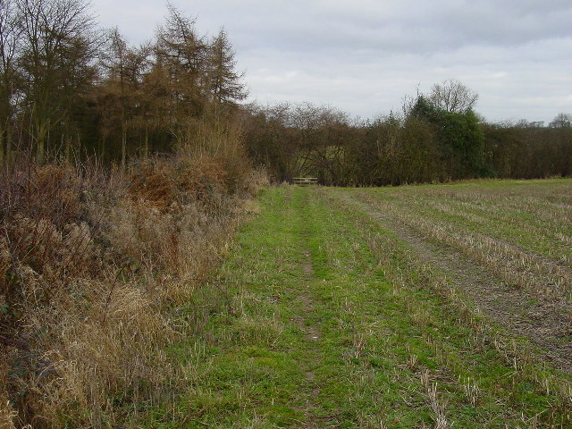 Footpath north of North Farm House