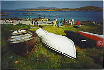 NM2824 : Iona, Rowing Boats by the Ferry terminal. by Colin Smith