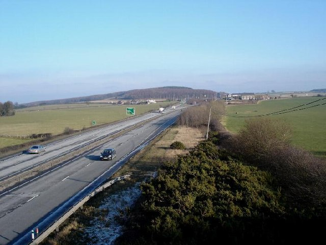 Caerwys Junction on the A55