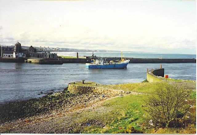 Fishing Boat Leaving Aberdeen Harbour.