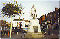 SU3987 : King Alfred Statue, Wantage Marketplace. by Colin Smith