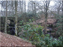 SD6911 : Bridge at Smithills Hall by Margaret Clough