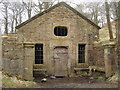 SD6619 : The Well House, Hollinshead Hall ruins by Margaret Clough
