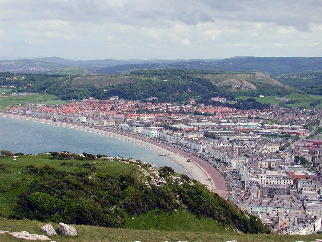 Llandudno from the Great Orme by Peter Crump
