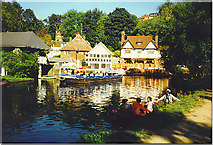 SU9948 : Boating on the River Wey. by Colin Smith