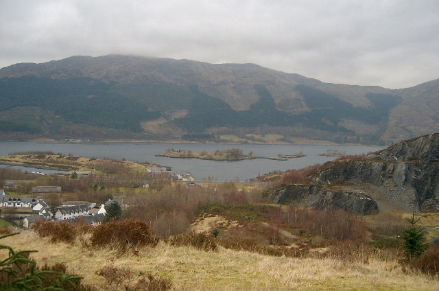 Looking north to Loch Leven.