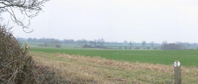 The flat farmland of Buckinghamshire