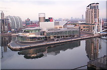 SJ8097 : The Lowry Centre, from the Air Shard, Imperial War Museum North by S Parish