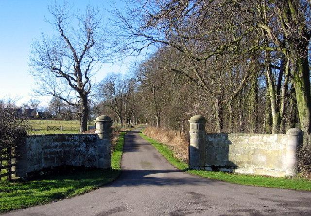 Gates and Drive to Benridge Hall
