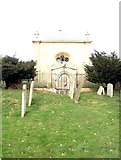 TL1344 : Mausoleum in the corner of St Leonard's Church yard by Robin Hall