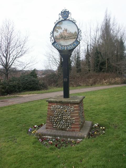 Village sign, Costessey