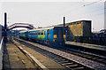 NZ3957 : Sunderland to Newcastle Railway passing through Monkwearmouth Station Museum, Sunderland by Martin Routledge