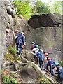 TQ5335 : Boulder Running, Harrison Rocks by N Chadwick