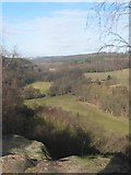 SK0642 : View up the Churnet Valley from Toothill Rock by Dennis Thorley