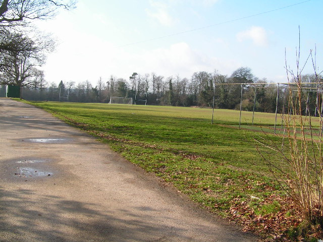 Southfields, School playing fields by N Chadwick
