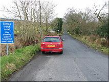 NR8261 : Start of the B8001 road to Clonaig Ferry/Carradale. by Johnny Durnan
